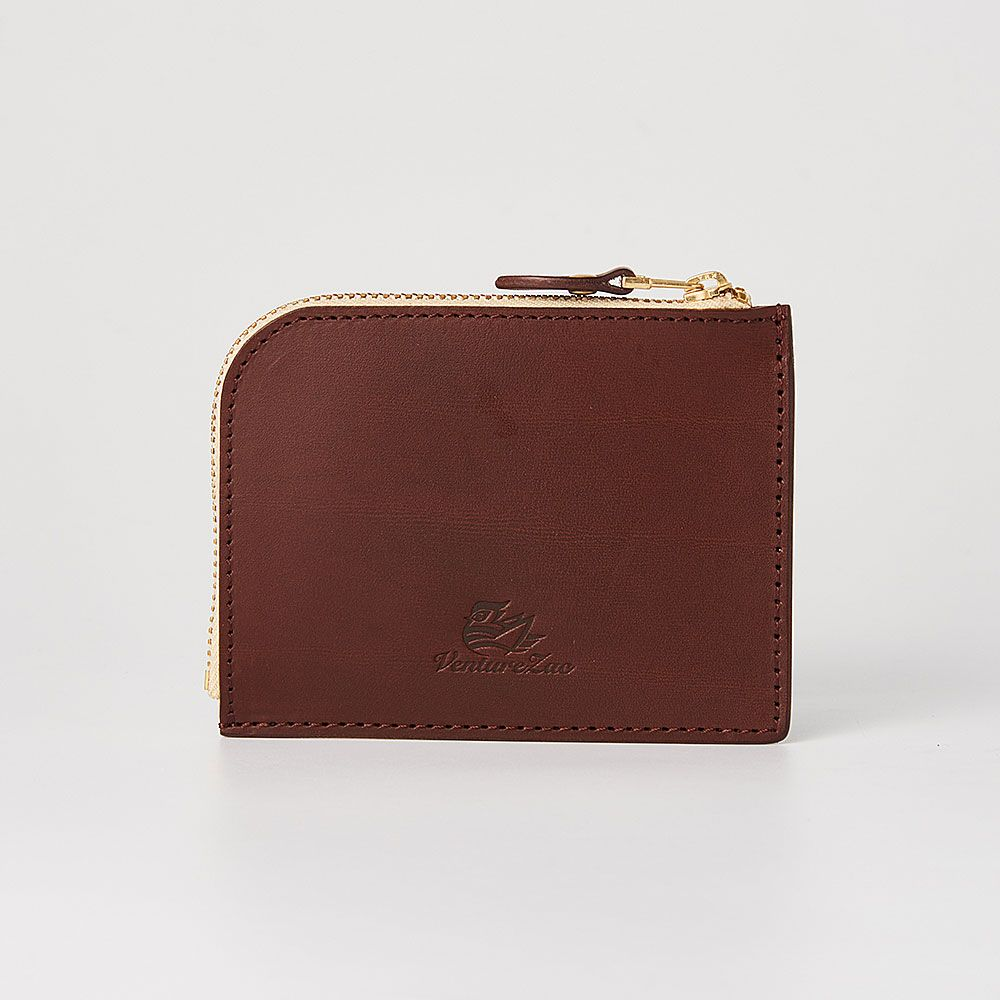 L型拉鍊零錢包 L Zip Coin Wallet / 巧克力 Chocolate